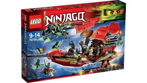 $67.5 Prime Members Only LEGO Ninjago 70738 Final Flight of Destiny's Bounty Building Kit