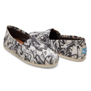 TOMS X JAMES GOLDCROWN BLACK GREY MEN'S CLASSICS