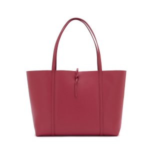 TIBETAN RED LEATHER TIE TOTE | KARA BAG