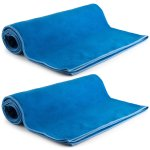 MEGALOVEMART Set of 2 Super Absorbent Suede Non Slip Microfiber Sports, Gym & Outdoor Towels