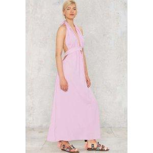 Positano Plunging Maxi Dress