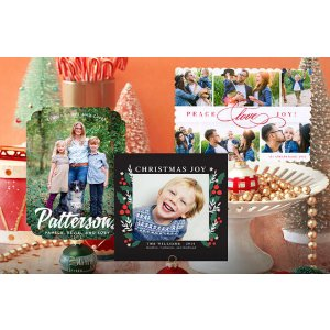 40, 70, or 100 Personalized Photo Cards Deal