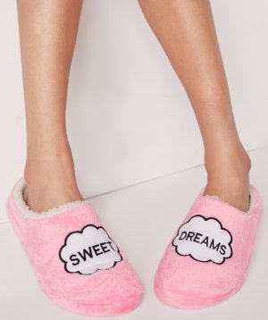 $8.5Sweet Dreams Slippers Pink @ Missguided