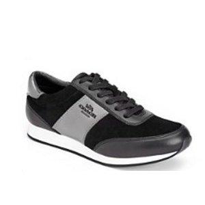 COACH Raylen Grommet Suede Sneakers