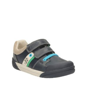 Lil Folk Cub Toddler Navy Leather - Boys' Casual Shoes - Clarks® Shoes Official Site