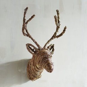 Mini Brown Deer Head Wall Decor | Pier 1 Imports