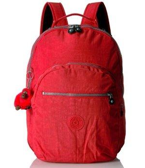 史低价!$47.88Kipling Seoul 双肩包-红色