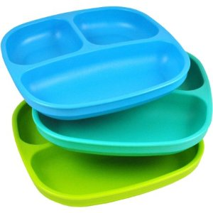 $4.9 Re-Play 3-Pack Divided Plates, BPA-Free
