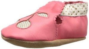 Robeez Cherry Soft Sole Crib Shoe (Infant)