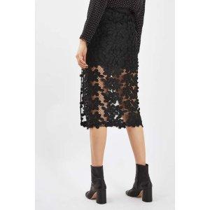 Applique Lace Midi Skirt - Topshop USA