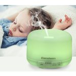 Excelvan 500ml Oil Aroma Diffuser Ultrasonic Cool Mist Humidifier LED Color Changing Lamp Light Lonizer Waterless-Auto Shut off White