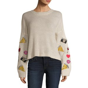 Wildfox Vintage Emoji Dinner Party Sweater