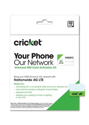 Cricket Wireless Complete Starter Pack: Nano SIM Card with Standard & Micro Adapters