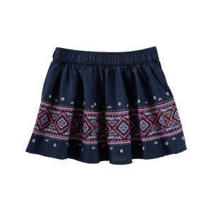 Toddler Girl Geo Border Print Skirt | OshKosh.com