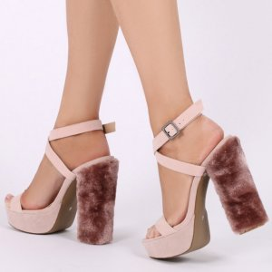 ANALISE FAUX FUR HEEL PLATFORMS