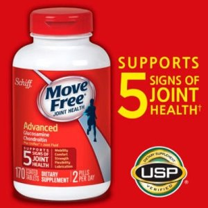 Schiff Move Free Joint Health Advanced Coated Tablets, 170 Count | Jet.com