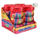 Mentos Gum Big Bottle Curvy, Tropical Red Fruit/Lime, 50 Pieces (Pack Of 4)
