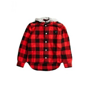 Buffalo Check Shirt (7-16) | GUESS.com