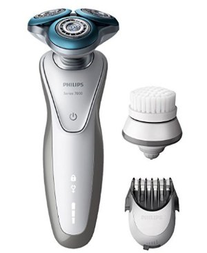 $104.05 Philips S7530/50 Series 7000 Electric Shaver for Sensitive Skin with Trimmer and Exfoliation Brush