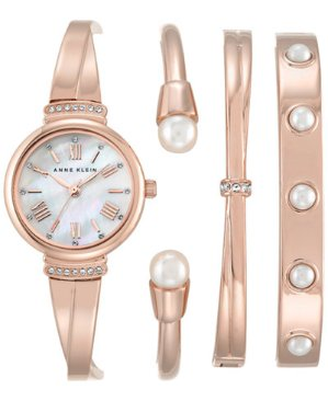 $62.00(reg.$175.00) Anne Klein Rose Gold-Tone Bracelet Watch Set 32mm AK-2372RGST