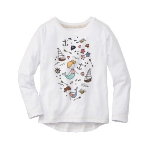 Hanna Andersson White Mermaids Hi-Low Art Tee | zulily