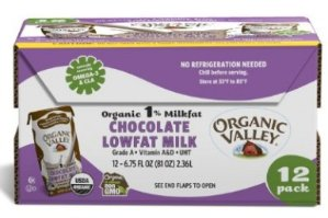 Organic Valley, Organic 1% Low Fat Chocolate Milk, 6.75 oz (Pack of 12)