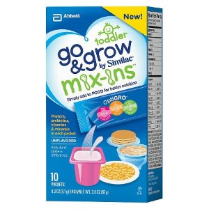 Similac Go & Grow Food Mix-In Non-GMO Powder Packs 10 Count : Target