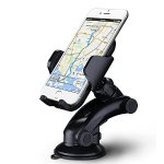 Mpow Car Mount Holder, Universal Car Windshield / Dashboard Phone Mount Holder for iPhone, LG, etc