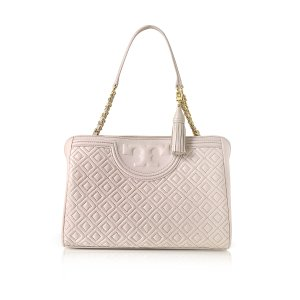 Tory Burch Bedrock Fleming Quilted Leather Open Shoulder Bag at FORZIERI
