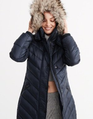Abercrombie & Fitch QUILTED PARKA