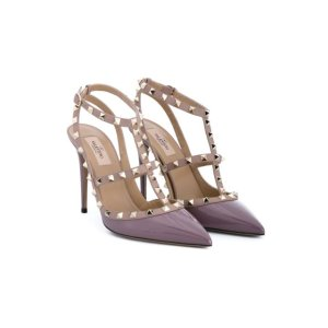 Valentino Garavani Leather Rockstud Sandals - Biondini Paris - Farfetch.com
