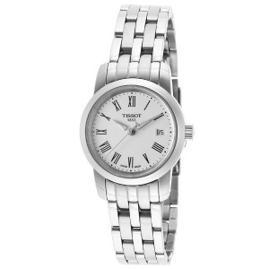 Tissot Women's Classic Silver-Tone Stainless Steel White Dial | World of Watches