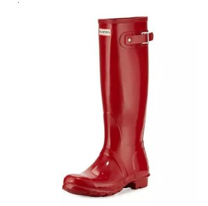 $93 Hunter Boot Original Tall Gloss Rain Boot @ Neiman Marcus