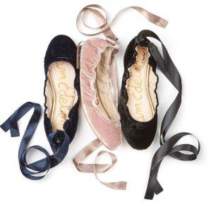 $59.9(原价$99.95)+免邮!6色选Sam Edelman天鹅绒系带鞋热卖