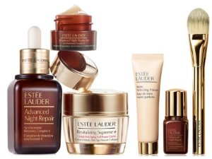 Free  10-Pc. Gift Set With Estée Lauder Global Anti-Aging Set and 3-Pc. Double Wear Makeup Set Purchase