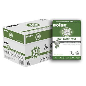 Boise X 9 Paper Letter Size Paper 20 Lb Bright White 500 Sheets Per Ream Case Of 10 Reams by Office Depot & OfficeMax