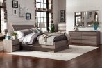 $188.88 Laguna Queen Bed With Headboard, Truffle