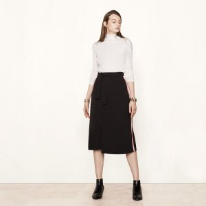 JACTIONE Wraparound skirt with side bands - Skirts & Shorts - Maje.com