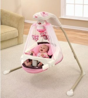 Fisher-Price Papasan Cradle Swing, Mocha Buttery