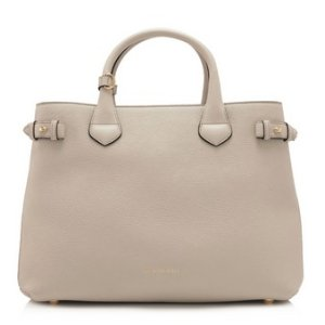 Burberry House Check Derby Leather Medium Banner Tote
