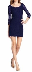 $113.1(org. $325) 40% Off Diane von Furstenberg Zarita Lace Scoopneck Dress Sale @ Saks Fifth Avenue