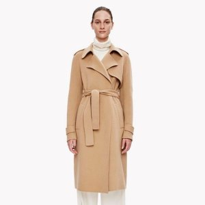 Double-Face Wool-Cashmere Trench Coat