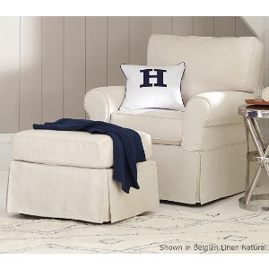 PB Kids® Small Comfort Swivel Rocker & Ottoman | Pottery Barn Kids