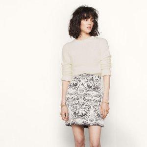 JERIKO Short bonded guipure skirt
