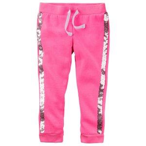 Toddler Girl Fleece Neon Sequin Joggers | Carters.com