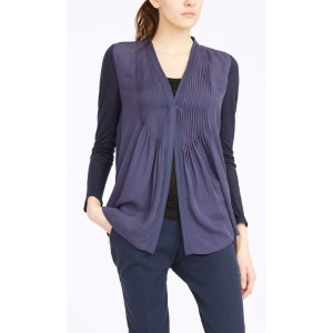 WILLOW OPEN-FRONT BLOUSE