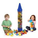 """$10.00 Crayola Kids at Work 80pc Blocks in 36"""" Giant Crayon Tube BLUE"""