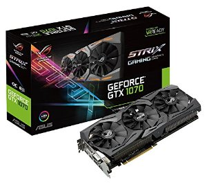 $379.99 ROG ASUS GeForce GTX 1070 8GB ROG STRIX Graphic Card