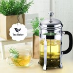 Cymas French Press Coffee Maker, 34oz 8 Cups Coffee Tea Press Pot with Stainless Steel
