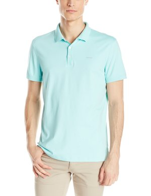 $24.99 Calvin Klein Men's Regular Fit Liquid Cotton Solid Polo Shirt